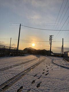 空,冬,雪,屋外,太陽,雲,トラック,寒い,地面,冷たい,日中