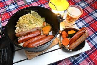 食べ物,ディナー,ポトフ,野菜,皿,おいしい,ソーセージ,フランクフルト,ニンジン,#Snapmart,#pr,#ジョンソンヴィル
