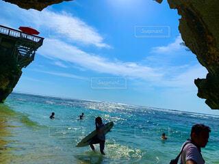海,空,屋外,サーフィン,サーフボード,ビーチ,水面,人物,バリ