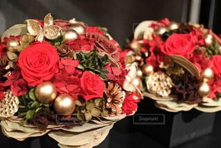 花,屋内,花束,花瓶,バラ,お花,薔薇,キャンドル,キラキラ,クリスマス,装飾,草木,クリスマスブーケ