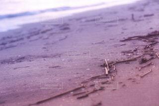 夕日の砂浜の写真・画像素材[4247723]