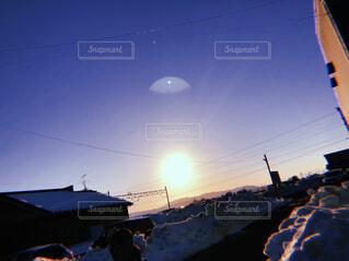 空,冬,雪,屋外,太陽,雲