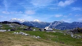 スロベニアの山を散策の写真・画像素材[4220025]