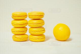 レモンのマカロンの写真・画像素材[4252035]
