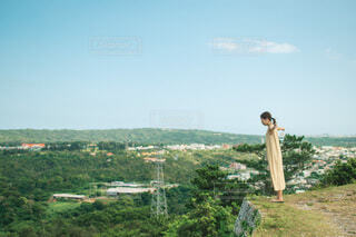 沖縄旅行中の女性の写真・画像素材[4766829]