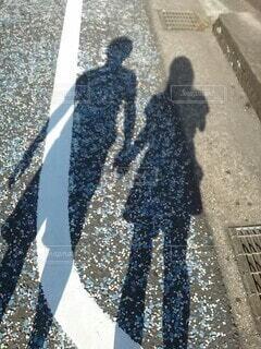 夫婦で出かけたときの一枚ですの写真・画像素材[4242998]