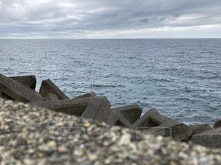 小さな私が海を見たらの写真・画像素材[4640140]