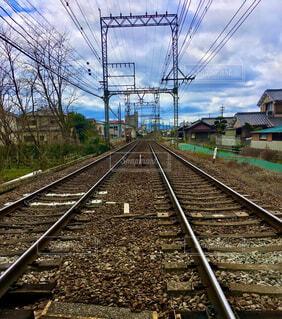線路はつづくよどこまでもの写真・画像素材[4242609]