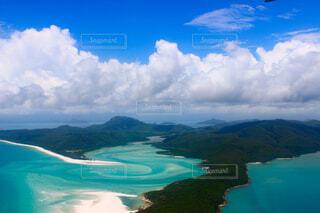 オーストラリアのハミルトン島から行けるホワイトヘブンビーチの写真・画像素材[4241889]