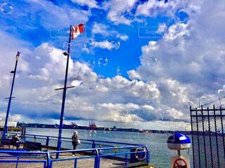 カナダのバンクーバーの港町の写真・画像素材[4252752]