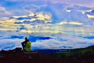 富士山6合目からの雲海の写真・画像素材[4252754]
