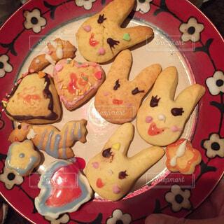 娘が作ってくれたクッキーたちの写真・画像素材[4386946]