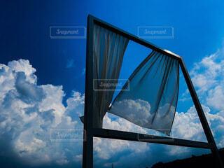 青と白の写真・画像素材[4684437]