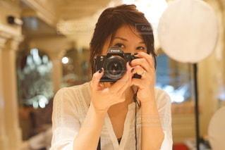 鏡の中の私の世界の写真・画像素材[3388478]