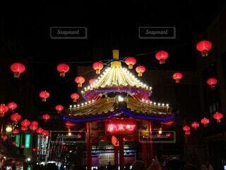 夜の南京町🏮の写真・画像素材[4242472]