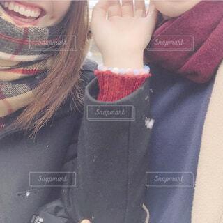 初雪をあなたとの写真・画像素材[4285178]