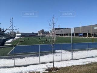 フィールドスポーツ 冬の写真・画像素材[4271865]