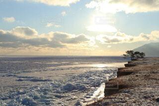 バイカル湖の流氷の写真・画像素材[4105726]