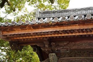 古い建物と幾何学模様の写真・画像素材[4258952]