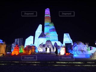 氷祭りの写真・画像素材[4296241]