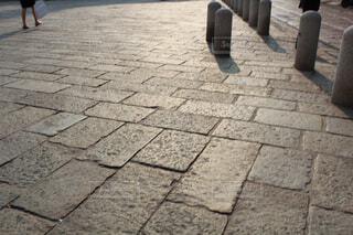 石畳みの道の写真・画像素材[4276424]