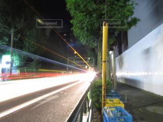 夜道の写真・画像素材[4268495]