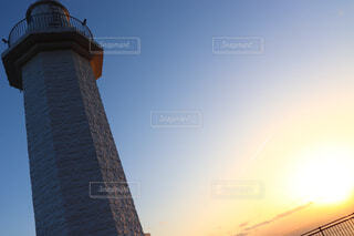 空,夕日,屋外,展望台,綺麗な青