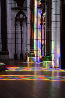 屋内,カラフル,アート,光,床,ステンドグラス,教会,明るい,神秘