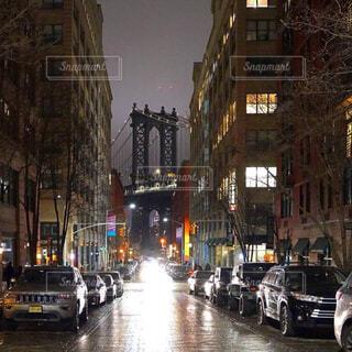 夜のニューヨークの写真・画像素材[4309555]