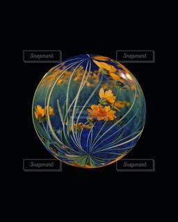 紫,アート,新緑,ボール,絵画,ガラス玉,カラー,水晶,草木,球,琥珀,フローラ