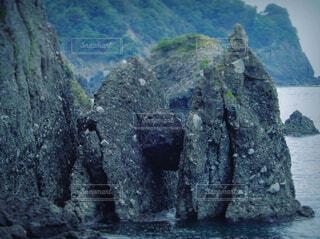 自然,風景,海,屋外,水面,葉,山,岩,洞窟,岩石,山陰,山腹,はさかり岩