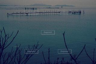 自然,風景,空,冬,屋外,湖,雲,水面,寒い,琵琶湖