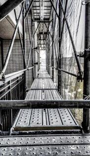 橋,屋外,モノクロ,ネット,足場