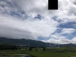 自然,風景,空,屋外,雲,青空,山,景色,草,樹木,知床