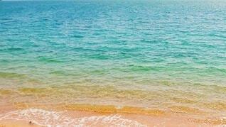 海,春,屋外,ビーチ,青,波打ち際,波,水面,浜辺,瀬戸内海,広島,グラデーション,瀬戸内,穏やか,春の海,Seto inland sea