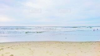 風景,海,空,屋外,砂,ビーチ,砂浜,波,水面,海岸,水平線,浜辺,beach,千葉,九十九里浜,ocean