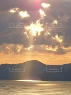 空からのスポットライトの写真・画像素材[4416603]