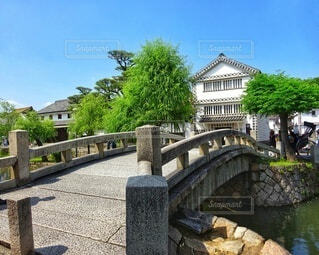 倉敷美観地区の中橋の写真・画像素材[4451354]
