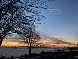 ボストンの夕焼けの写真・画像素材[4324497]