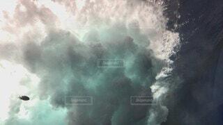 自然,空,屋外,波,水面,霧,煙