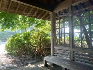 建物,家具,木目,ポーチ,草木