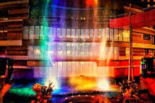 風景,水,アート,ライトアップ,噴水,明るい,ショー,キャナルシティ