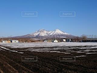 自然,風景,空,雪,山,日中,北海道駒ヶ岳