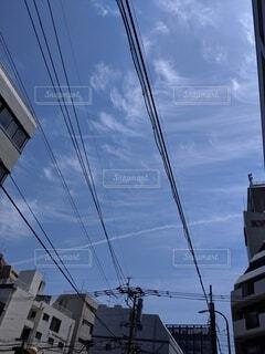 空,建物,屋外,雲