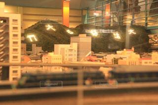 建物,屋内,京都,山,ミニチュア,模型,大文字