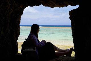 岩の窓の写真・画像素材[4444758]