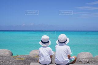 宮古ブルーを眺めるの写真・画像素材[4467897]