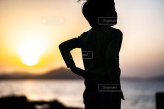 夕暮れの写真・画像素材[4624094]