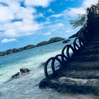 海,空,屋外,海外,ビーチ,雲,青,水面,海岸,鮮やか,旅行,スポット