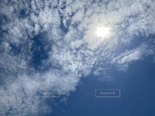空,屋外,太陽,雲,晴れ,青空,青,月,昼間,くもり,日中